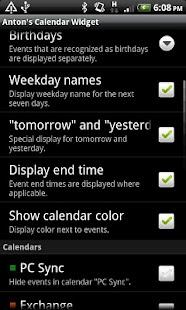Antons Kalender-Widget – Miniaturansicht des Screenshots