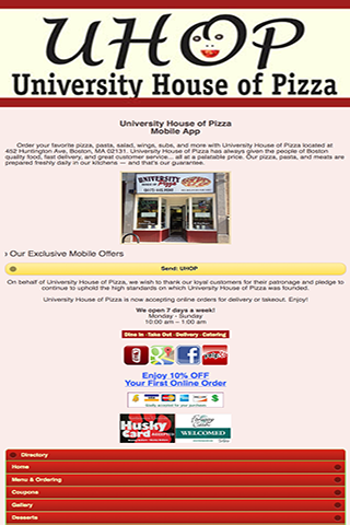 玩商業App|University House Of Pizza免費|APP試玩