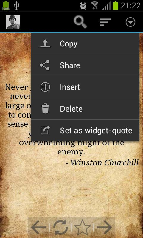 Sir Winston Churchill Quotes - screenshot