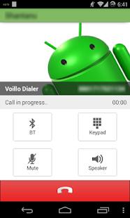 VoilloDialer - náhled