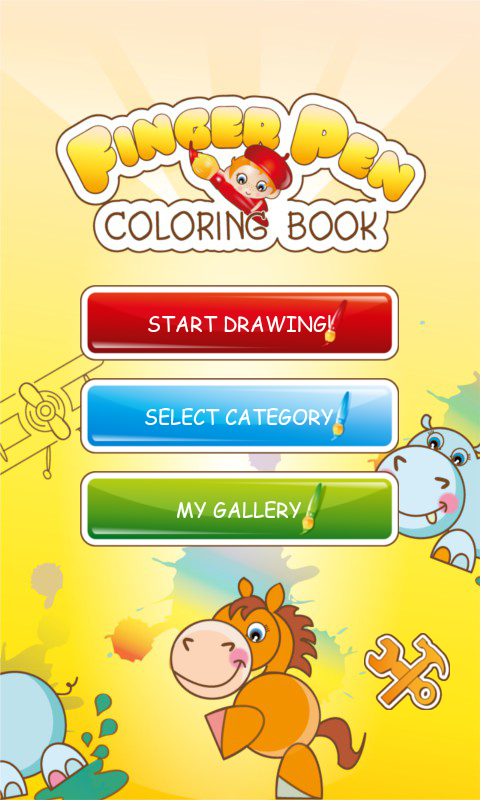 FingerPen 300+ coloring books - screenshot