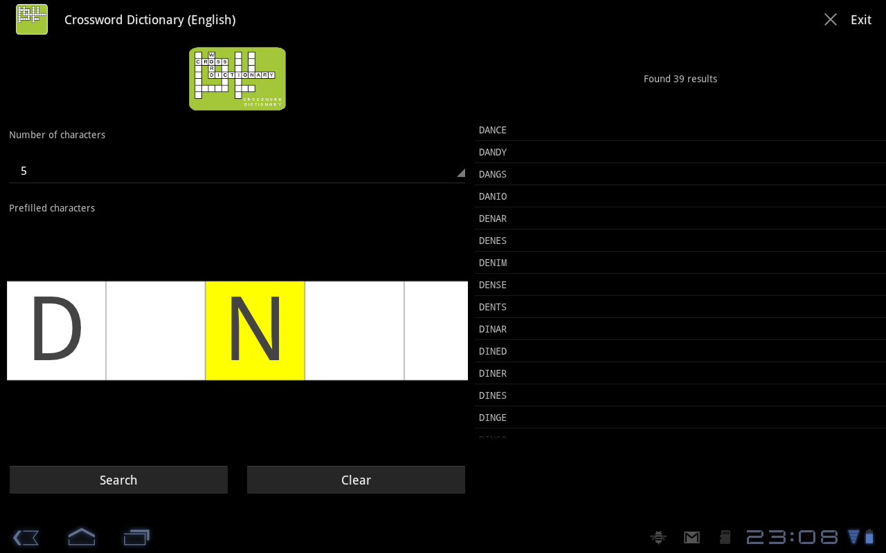 Crossword Puzzle Dictionary Screenshot 4
