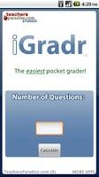 Screenshot of iGradr Teacher Pocket Grader