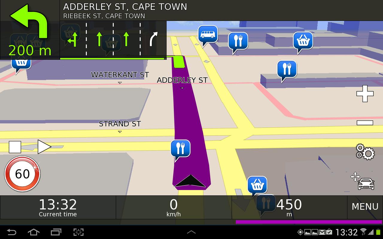 Desnav GPS Navigation (Navteq) - screenshot