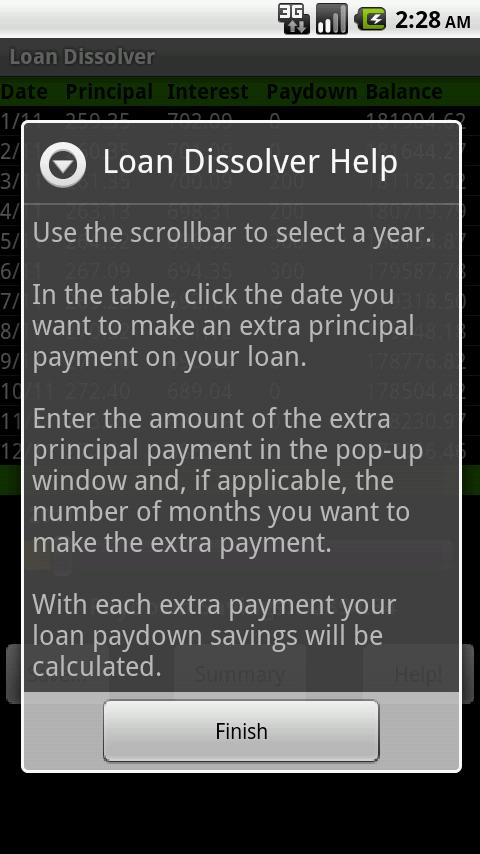 Loan Dissolver Lite- screenshot