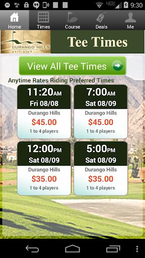 Durango Hills Golf Tee Times