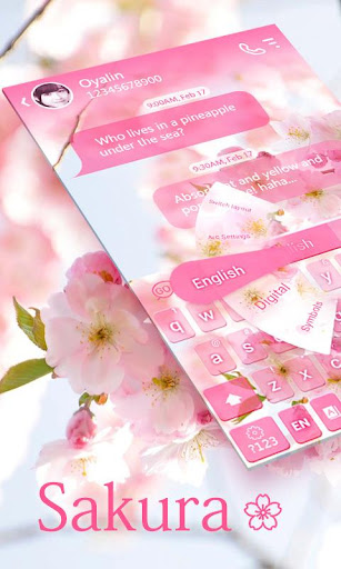 Sakura GO Keyboard Theme
