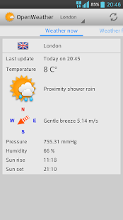 OpenWeather – weather forecast - náhled