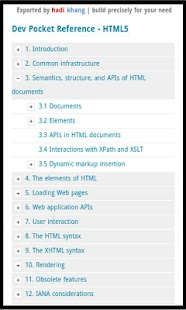 Dev Pocket Reference - HTML5- screenshot thumbnail