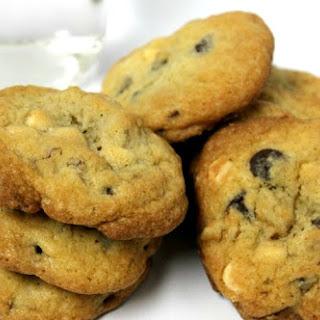 White and Dark Chocolate Chip Cookies.