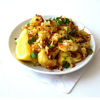 Lemony Roasted Cauliflower with Garlic & Oregano.