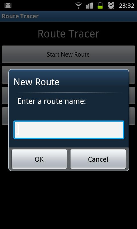 Route Tracer- screenshot