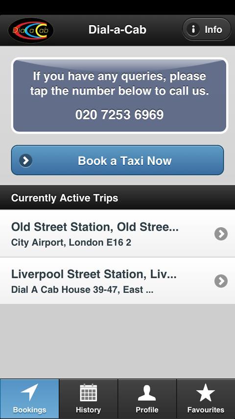 Dial-a-Cab - screenshot