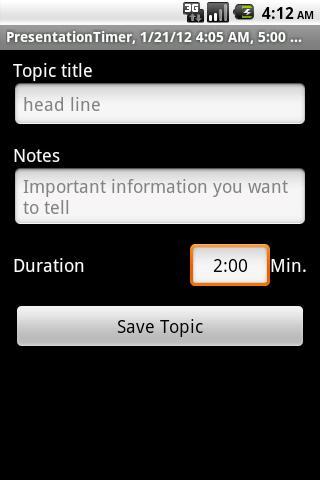 PresentationTimerFree- screenshot