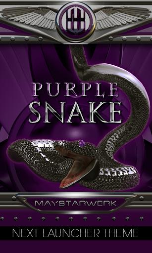 Next Launcher Theme purple sna