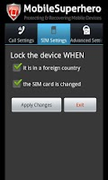 Screenshot of Mobile SuperHero