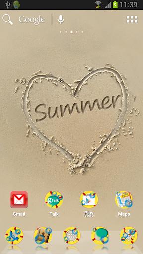 ADW夏季沙主題