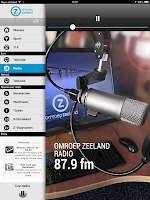 Screenshot of Omroep Zeeland tablet