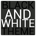Black & White Icon THEME★FREE★ icon