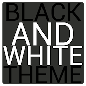 Black & White Icon THEME★FREE★