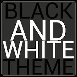 Black & White Icon THEME★FREE★