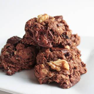 Chocolate Cherry Walnut Cookies.