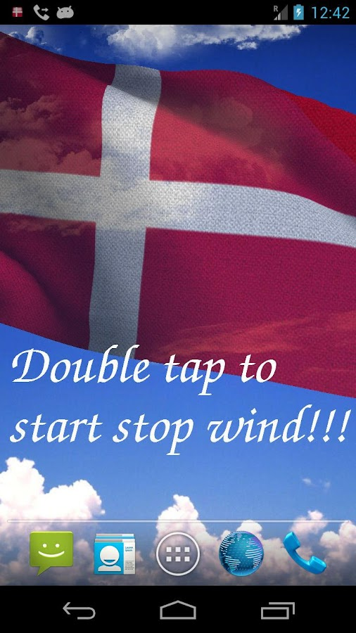 3D Denmark Flag Live Wallpaper - screenshot