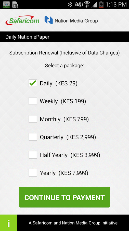Safaricom Daily Nation Reader- screenshot