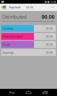 Budget with envelopes- screenshot thumbnail