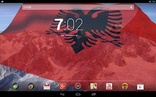 Screenshot of 3D Albania Flag Live Wallpaper