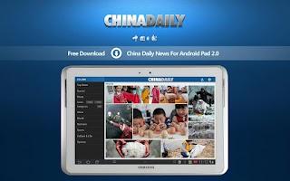 Screenshot of China Daily News Pad