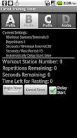 Screenshot of Circuit Training Timer