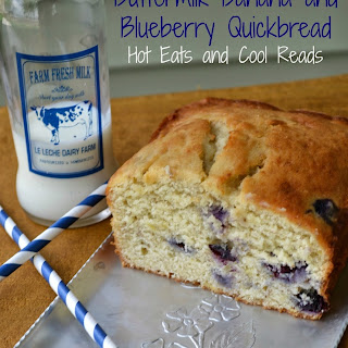 Buttermilk Banana and Blueberry Quick Bread