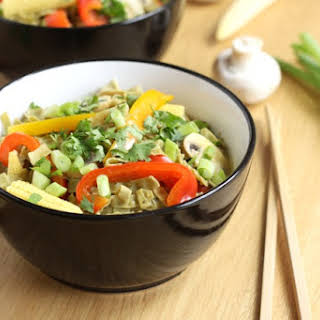 Thai Green Curry Noodle Soup.