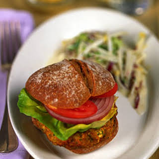 Sweet Potato Tofu Burger.