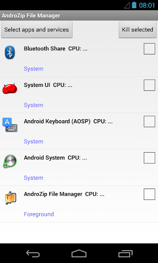 AndroZip screenshot 5