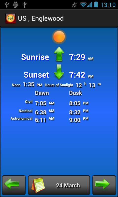Sun Alarm Sunrise Sunset- screenshot