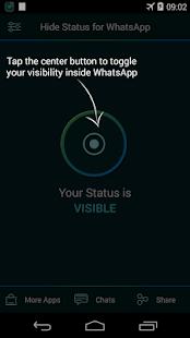 Hide status - screenshot thumbnail