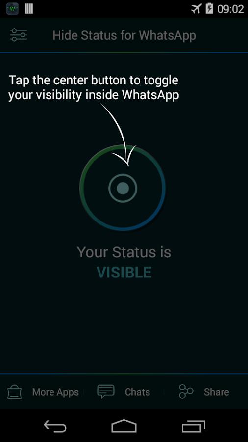 Hide status - screenshot