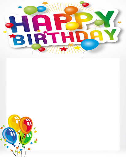 Free Happy Birthday Poto Frame