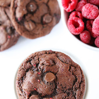 Dark Chocolate Raspberry Cookies