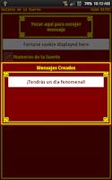 Screenshot of Galleta de la Suerte