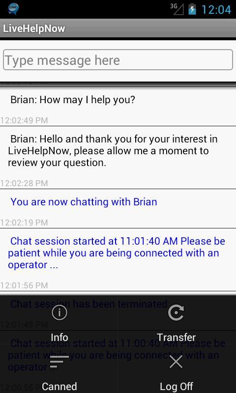 Livehelpnow Help Desk Screenshot