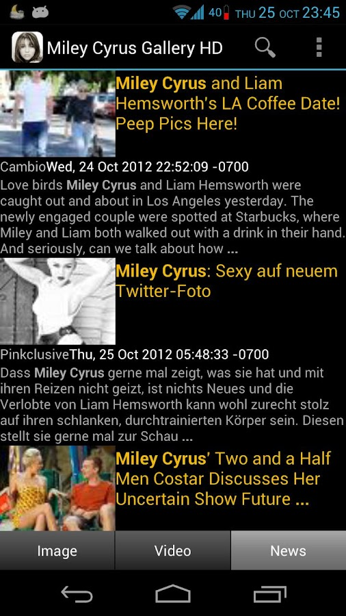 Miley Cyrus Gallery HD - screenshot