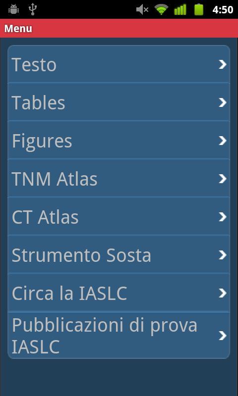 IASLC Staging Atlas - Italian - screenshot