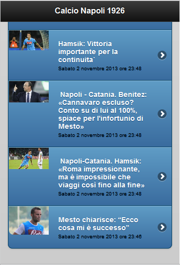 Calcio Napoli - Feed Rss - screenshot