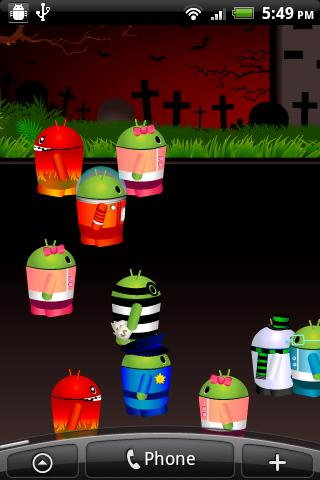Mini Droid City Live Wallpaper - screenshot