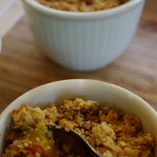 Almond, Peach And Quinoa Crumble.