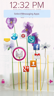 Pansy Flower - Start Theme - screenshot thumbnail