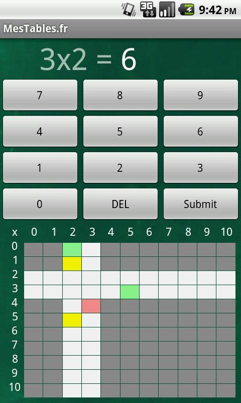 Mes Tables- screenshot